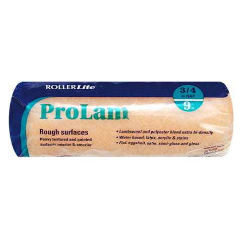 "ProLam™ - 9"" x 3/4"" - Standard Roller Cover - Lambswool, Polyester and Acrylic Blend"