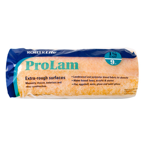 "ProLam™ - 9"" x 1 1/4"" - Standard Roller Cover - Lambswool, Polyester and Acrylic Blend"
