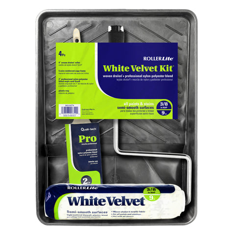 "White Velvet Kit™ -  9"" x 3/8"" - Woven Dralon®- 4 Pc"