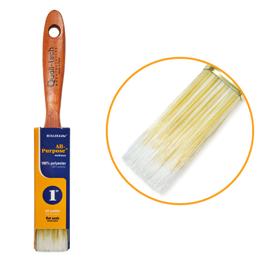"All-Purpose™ 100% Polyester - 1"" - Flat Sash Paint Brush"
