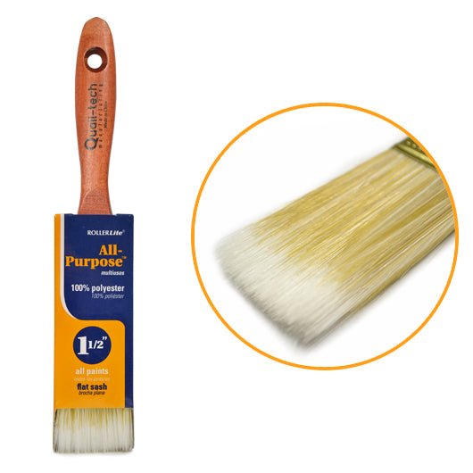 "All-Purpose™ 100% Polyester - 1 1/2"" - Flat Sash Paint Brush"
