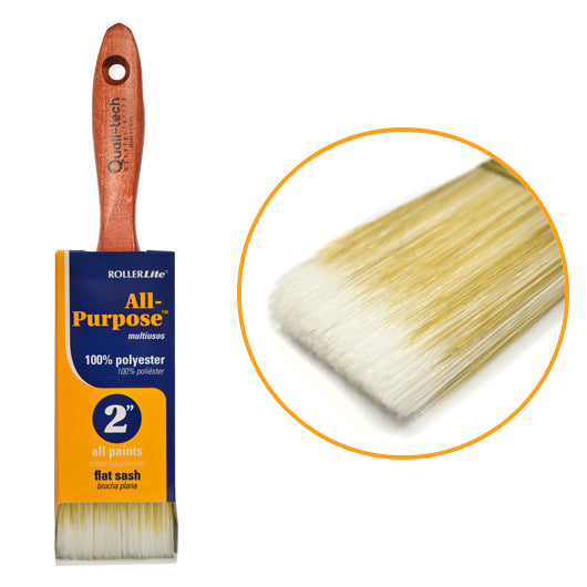 "All-Purpose™ 100% Polyester - 2"" - Flat Sash Paint Brush"