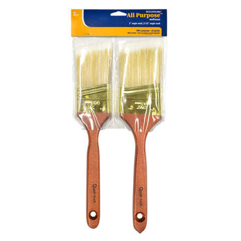 All-Purpose™ 100% Polyester - Angle Sash Paint Brush (2 Pack)