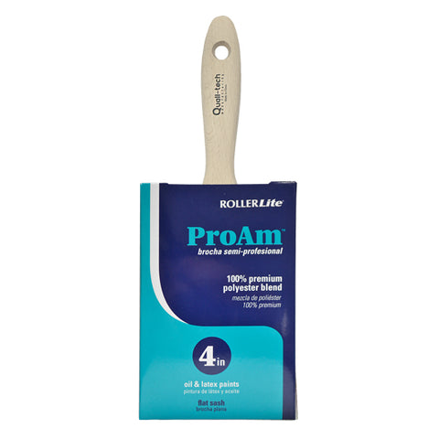 "Pro-Am™ 100% Premium Polyester Blend - 4"" - Flat Sash Paint Brush"