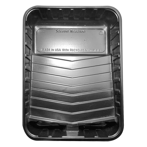 "Black Plastic Tray - Recycled - Special for 9"" Roller Covers"