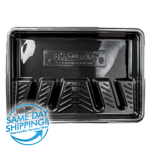 "Black Plastic Tray - Special for 18"" Roller Covers"
