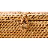 Small Rectangular Wicker Clutch
