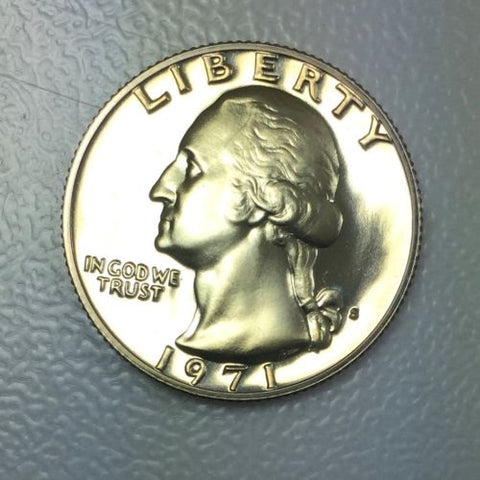1971 S 25c Washington Proof Quarter Proof Presentation Strike Coin