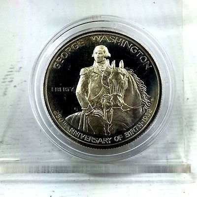 1986-S 50c George Washington Silver Commemorative Half Dollar 1111-355