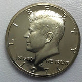 1971 S 50c Proof Kennedy Half Dollar - Yearly Special Presentation Strike Coin