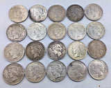 1922 $1 Peace Silver Dollar - FULL ROLL OF 20 COINS - Philadelphia Mint 1115-265