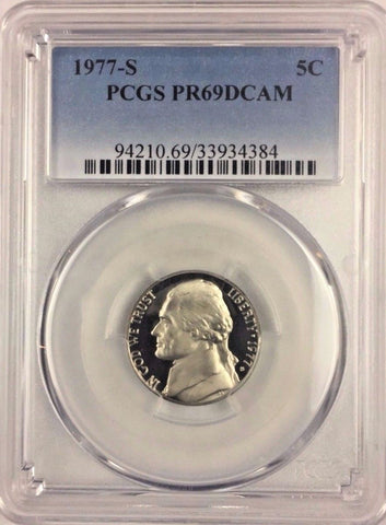 1977-S 5C DC (Proof) Jefferson Nickel PCGS PR69DCAM