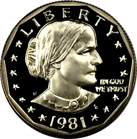 1981 S SBA $1 Type 1 Proof Susan B Susan B Anthony (1979-81
