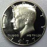 1977 S 50c Proof Kennedy Half Dollar - Yearly Special Presentation Strike Coin