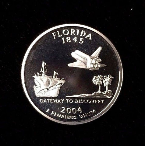 2004-S 25C Florida (Proof) Clad 50 States Quarter