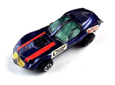 1960's Vintage / Collectible Topper Toy Car - Custom Mako Shark Purple w/ Decals