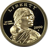 2000-S SAC$1 DC (Proof) Sacagawea Dollar - Gem BU+ Deep Cameo Coin
