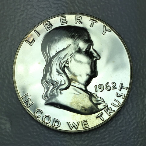 1962 P 50c Proof Franklin Silver Half Dollar From US Mint Fresh Proof Coin 1/2 $