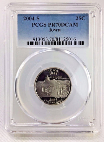 2004-S 25c Iowa DC (Proof) Statehood Quarter PCGS PR70DCAM - Perfectly Graded