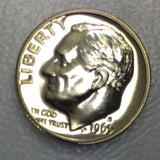 1969 S 10c Proof Roosevelt Dime - Yearly Special Presentation Strike Coin