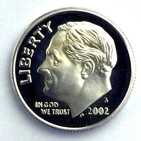 2002-S 10c Roosevelt Proof SILVER Dime - Yearly Presentation Strike Coin