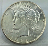 1926-S $1 Peace Silver Dollar - Key Date - High Grade Liberty  Coin JDPR1007ES