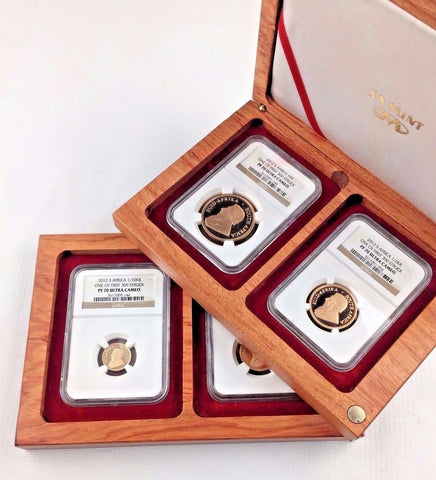 2012 Proof Gold South African Krugerrand Set - NGC PF70 Ultra Cameo - Very RARE