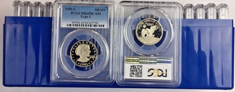 LOT OF 20 -> 1981-S SBA$1 Type 1 (Proof) Susan B. Anthony Dollar PCGS PR69DCAM