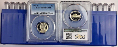 1986-S 5C DC (Proof) Jefferson Nickel (LOT OF 20) all Certified PCGS PR69DCAM