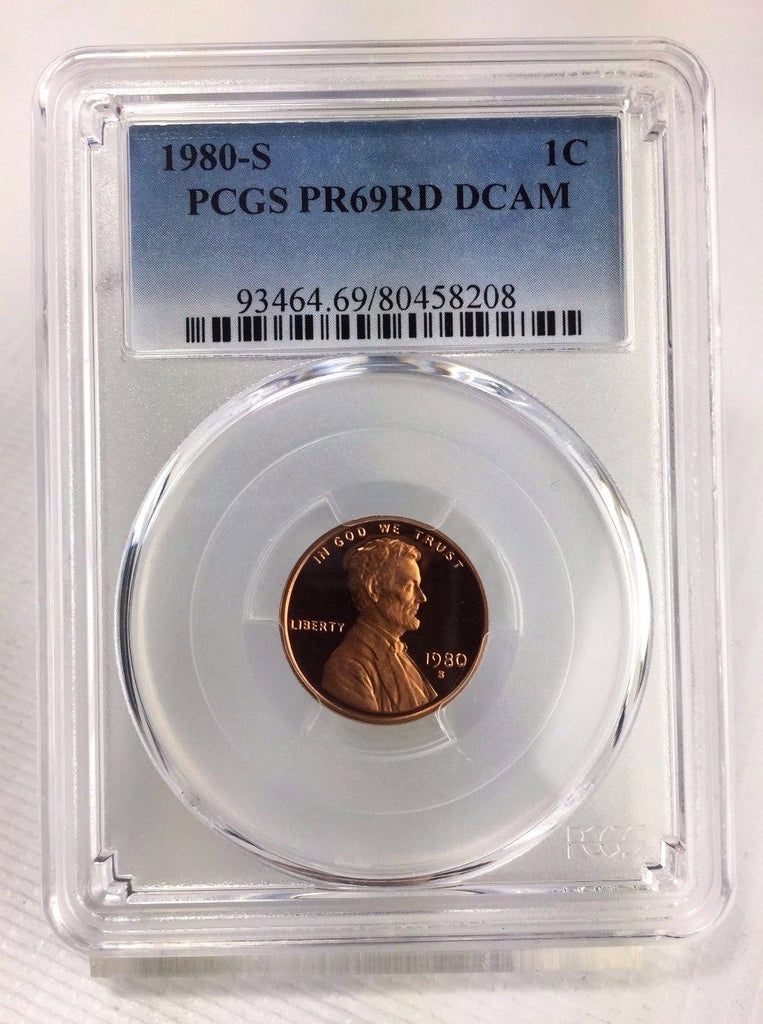 1980-S 1c DC (Proof) Lincoln Memorial Cent - PCGS PR69RD DCAM - Near Perfect
