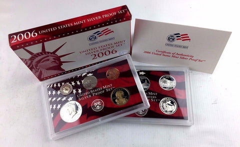 2006-S Proof Set Silver 10 Piece United States Proof Set 90% Original Box & COA