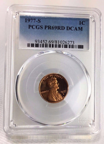 1977-S 1C DC (Proof) Lincoln Cent - PCGS PR69RD DCAM - Near Perfect Grade
