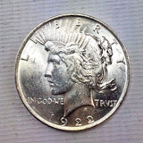 1922 $1 Peace Silver Dollar - Brilliant Uncirculated BU - Bright White 1115-243
