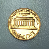 1968 S 1c Proof Lincoln Memorial Cent - Proof Presentation Strike Coin