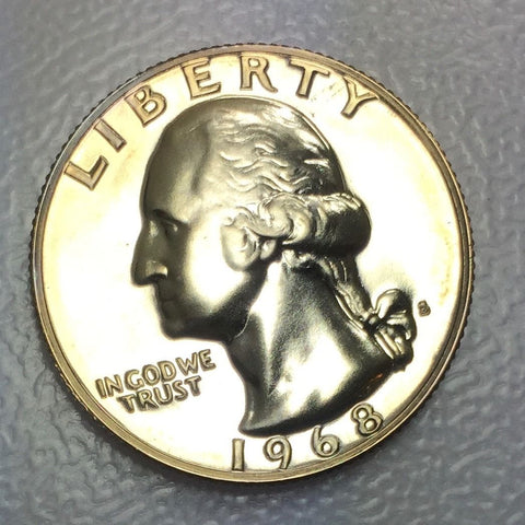 1968 S 25c Proof Washington Quarter - Special Presentation Strike Coin