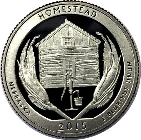 2015-S 25C Homestead National Park (Proof) America the Beautiful Quarter