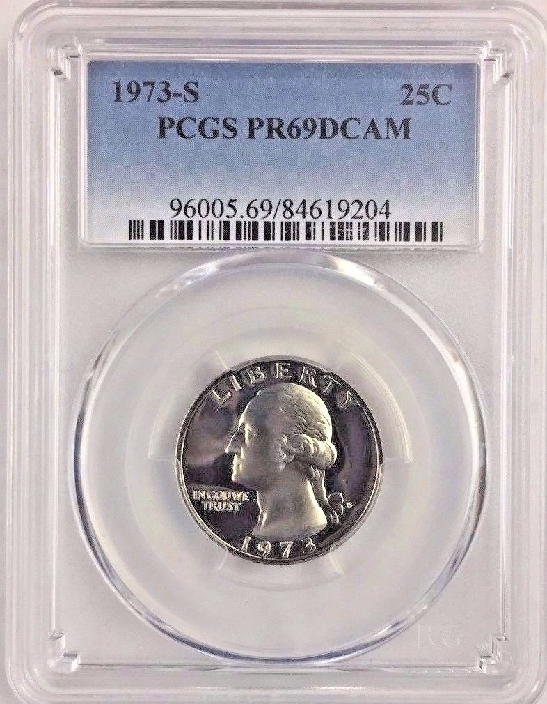 1973-S 25C DC (Proof) Washington Quarter PCGS PR69DCAM Buy 2+ GET FREE  SHIPPING*