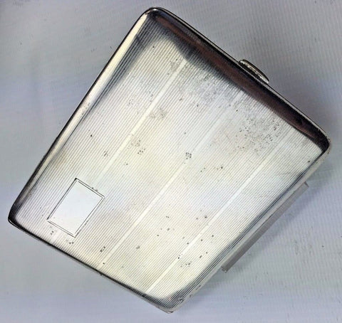 Sterling Silver Calling Card Case - Large Wallet Size Spring Hinge No Monogram