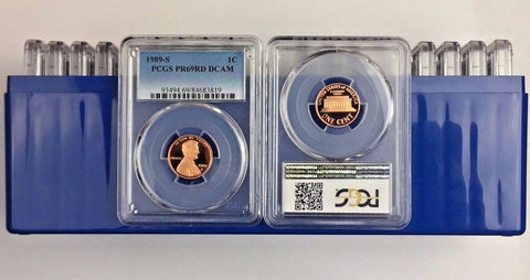 1989-S 1C DC (Proof) Lincoln Memorial Cent (LOT OF 20) all PCGS PR69RD DCAM