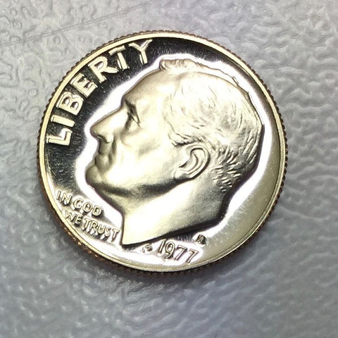 1977 S 10c Proof Roosevelt Dime - Special Presentation Strike Coin