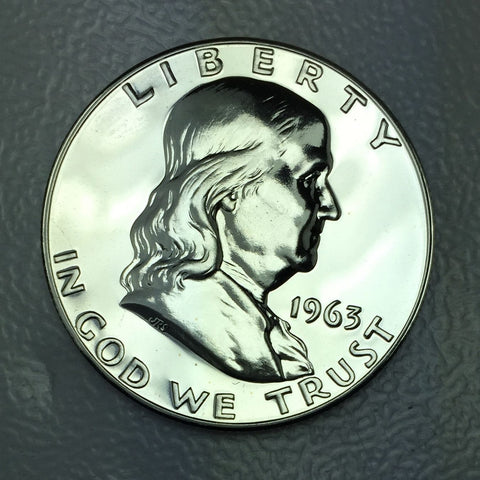 1963 P 50c Proof Franklin Silver Half Dollar From US Mint Fresh Proof Coin 1/2 $