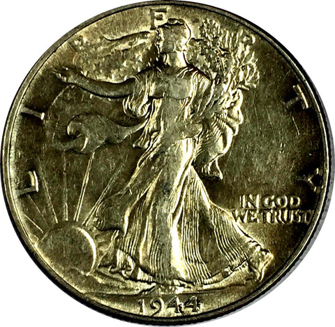 1944 50C Walking Liberty Half Dollar Philadelphia Mint Choice AU 729-99O