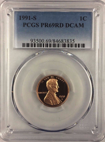 1991-S 1C DC (Proof) Lincoln Cent - PCGS PR69RD DCAM - Buy 2+ GET FREE SHIPPING*