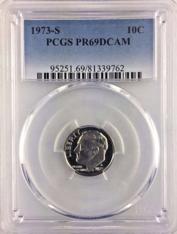 1973-S 10C Proof Roosevelt Dime PCGS PR69DCAM - * Buy 2+ GET FREE SHIPPING *