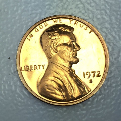 1972 S 1c Proof Lincoln Memorial Cent - Proof Presentation Strike Coin