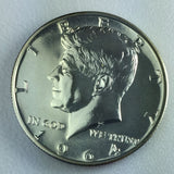 1964 50c JFK Kennedy Proof Silver Half Dollar - Presentation Strike Coin
