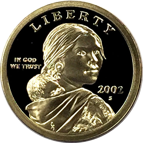 2002-S SAC$1 (Proof) Sacagawea Dollar - San Francisco Presentation Strike Coin