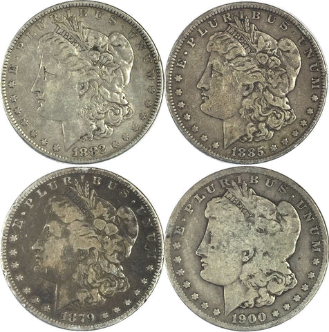 Morgan Silver Dollar (LOT OF FOUR (4) COINS) Mixed Dates - See Photos 727-56OC