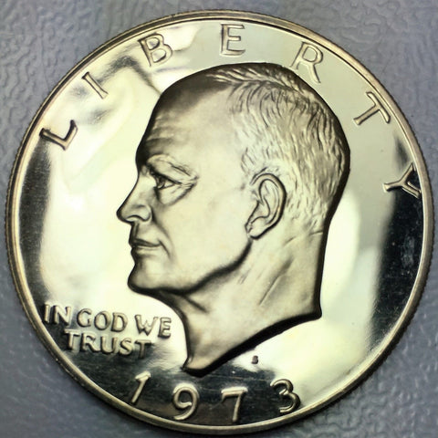 1973 Proof $1 Eisenhower Clad Coin - San Francisco Presentation IKE Dollar