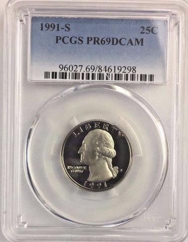 1991-S 25C DC (Proof) Washington Quarter PCGS PR69DCAM